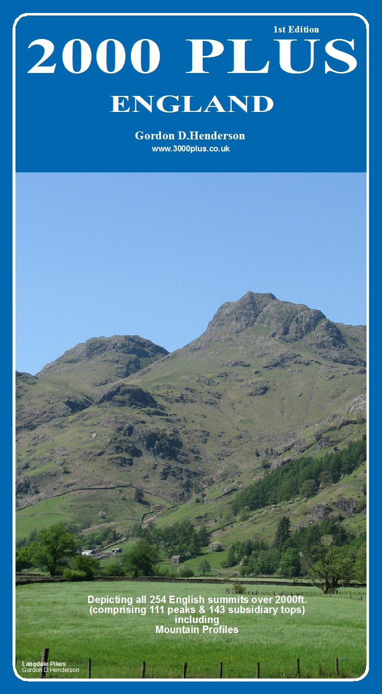 Front cover of 2000 PLUS - England. View of Langdale Pikes - Cumbria