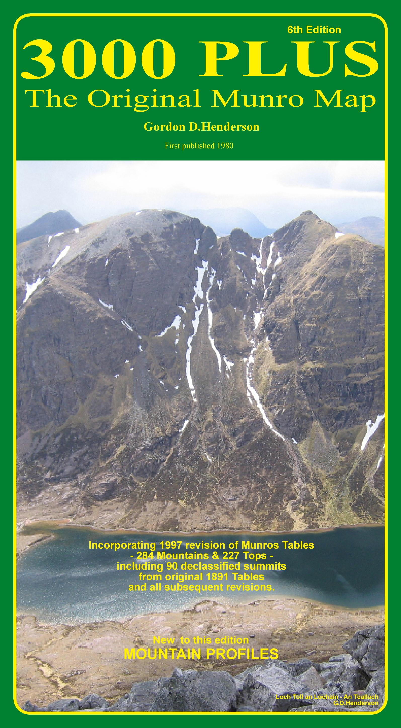 Front cover of 3000 PLUS - The Original Munro Map. View of Loch Toll an Lochan - An Teallach